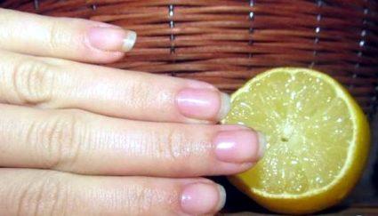 Одним из самых распространенных методов усиления ноготков является лимон