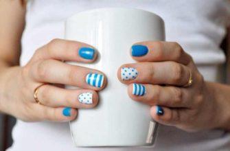 Короткие ногтевые пластины можно очень красиво декорировать